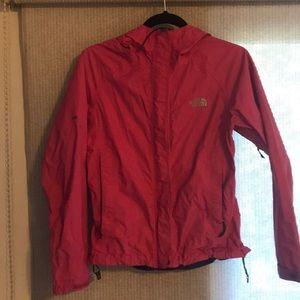 NorthFace Pink waterproof rain jacket